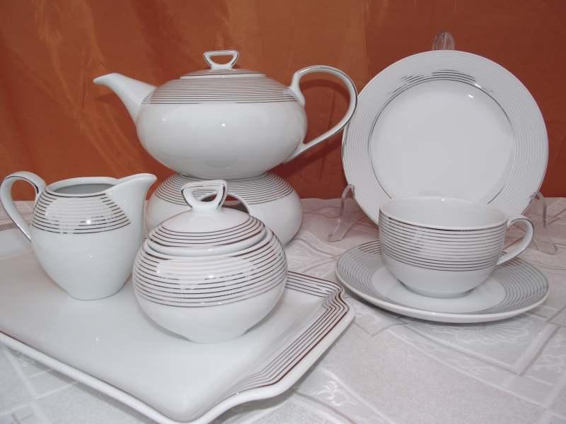 86f6749b236c0 Serwis do herbaty Yvonne na 12 osób / 40 elementów dekor. E520