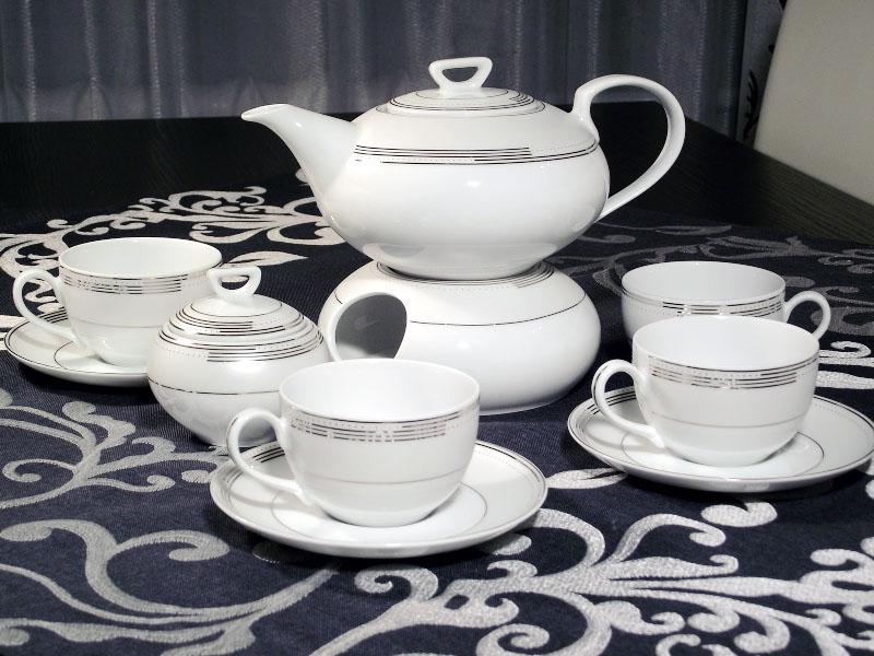 337ae3c985b6a Serwis do herbaty Yvonne na 12 osób / 41 elementów dekor. E328